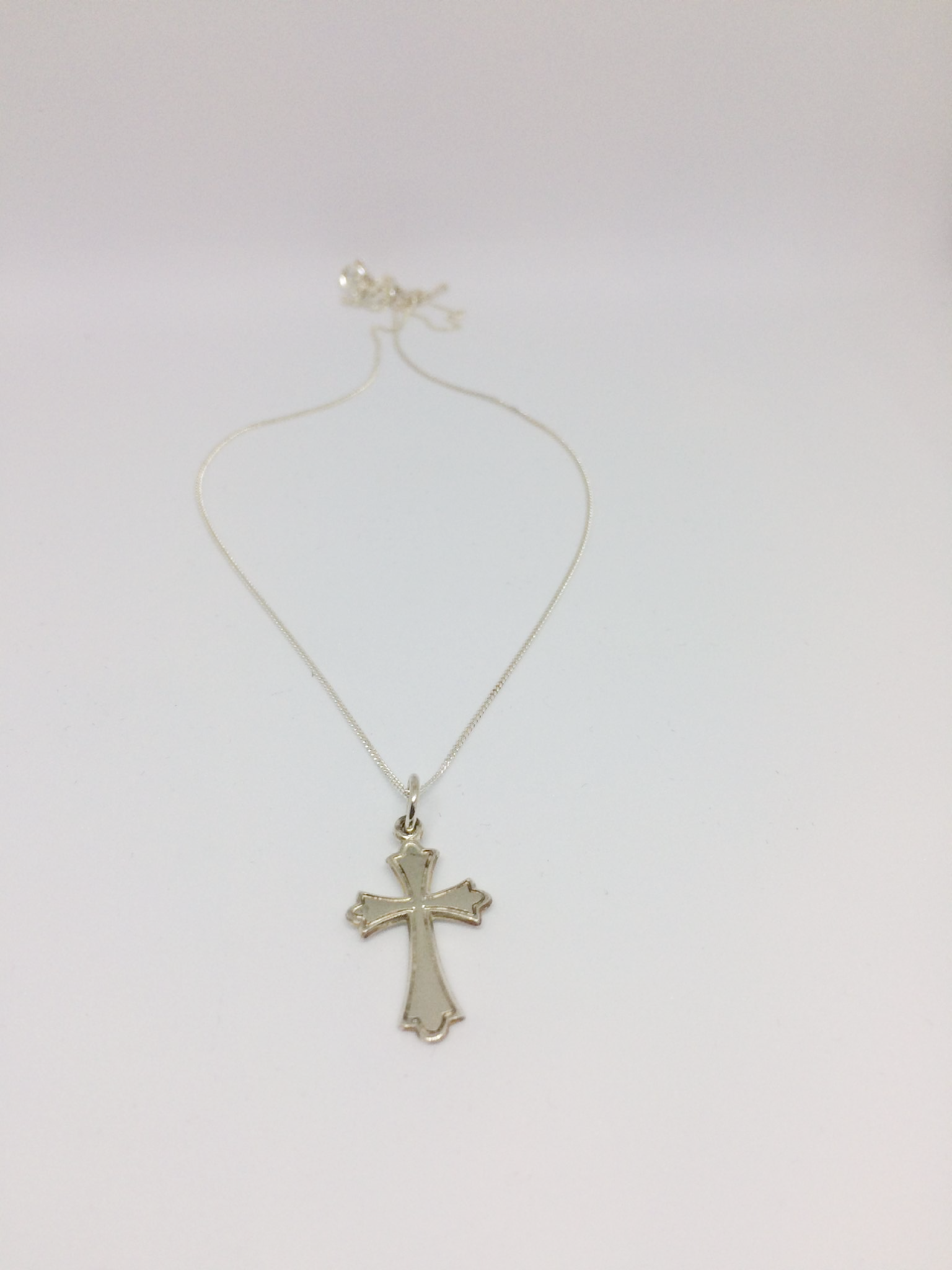 cross asp silver p jewellery devotional baptism ornate necklace
