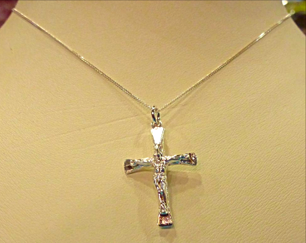Crucifix necklace silver crucifix necklace aloadofball Images